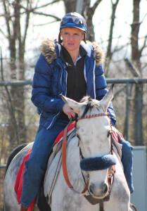Claudia Schorno – hoch konzentriert im Training. – Foto: zvg