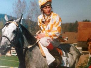 Jacky Beulay mit Ranavalona während seiner Zeit als Championjockey in der Schweiz. – Foto: zvg