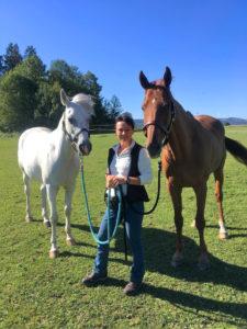 Die ehemalige Rennreiterin Ursina Kerle bietet kompetente Hilfe bei der Umschulung von Ex-Rennpferden.